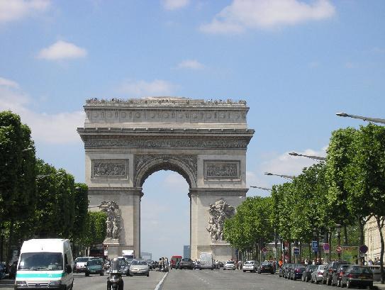 Arc de Triumph and Champ Elysees